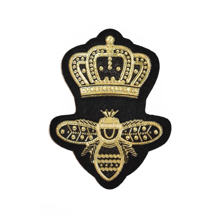 Prišivak, Royal, 20744-100, crno-zlatna