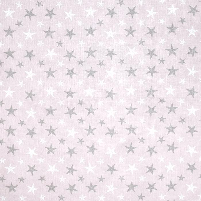 Bombaž, poplin, zvezde, 18279-389