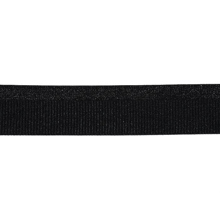 Elastikband, dekorativ, 40 mm, 20497-2002, schwarz