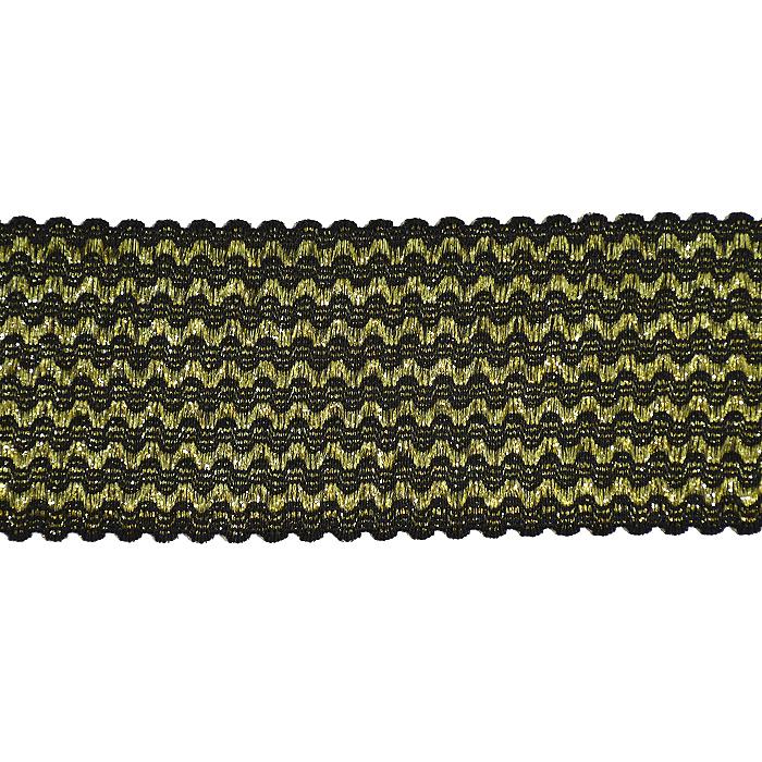 Elastikband, dekorativ, 65 mm, 20498-2100, golden