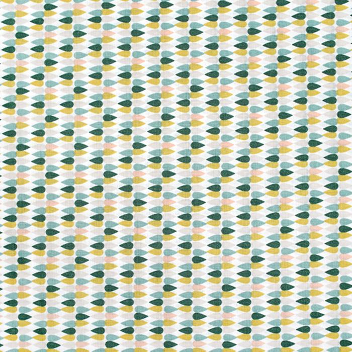 Pamuk, popelin, geometrijski, 20841-1, zelena