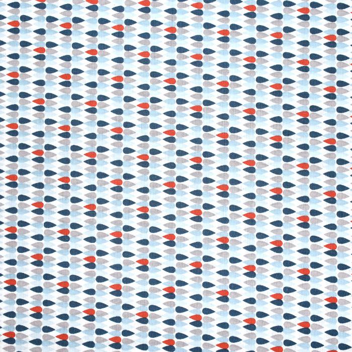 Baumwolle, Popeline, geometrisch, 20841-2, blau