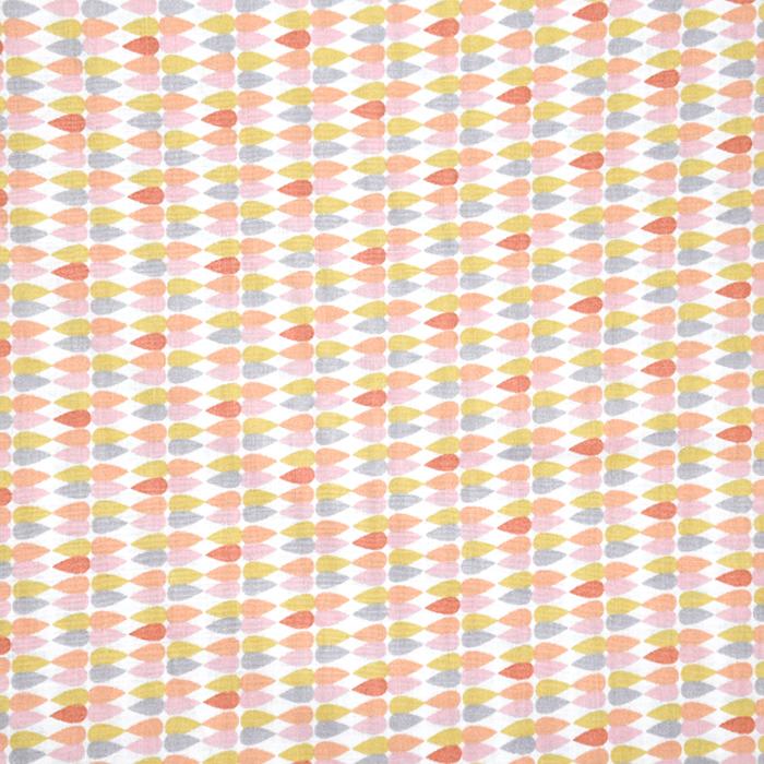 Baumwolle, Popeline, geometrisch, 20841-5, aprikose