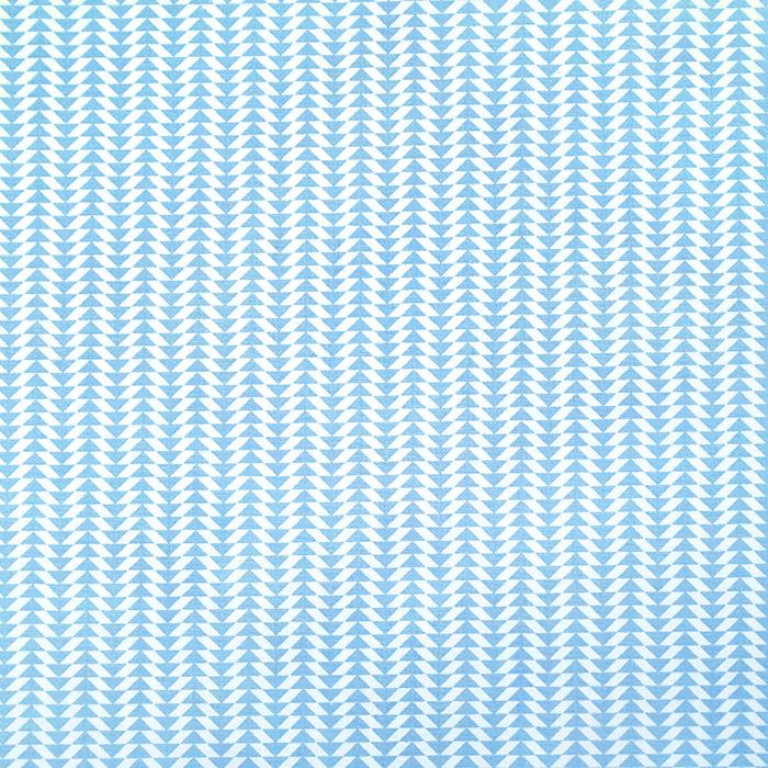 Bombaž, poplin, geometrijski, 20795-1, svetlo modra