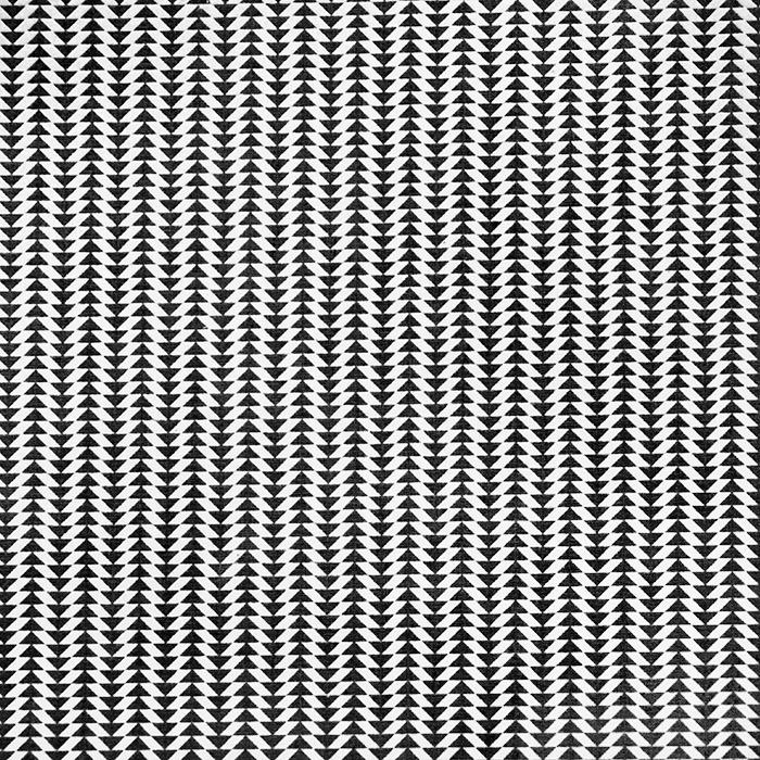 Bombaž, poplin, geometrijski, 20795-6, črna