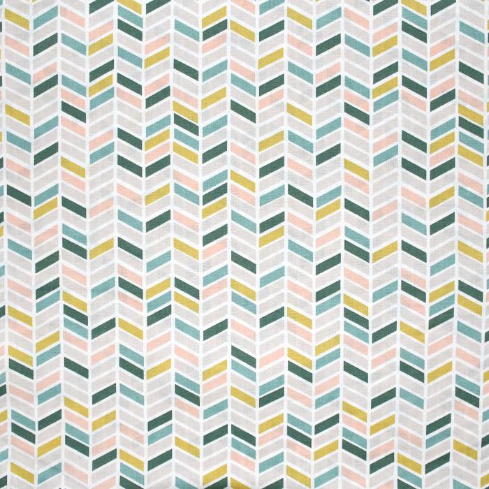 Bombaž, poplin, geometrijski, 20804-1, zelena