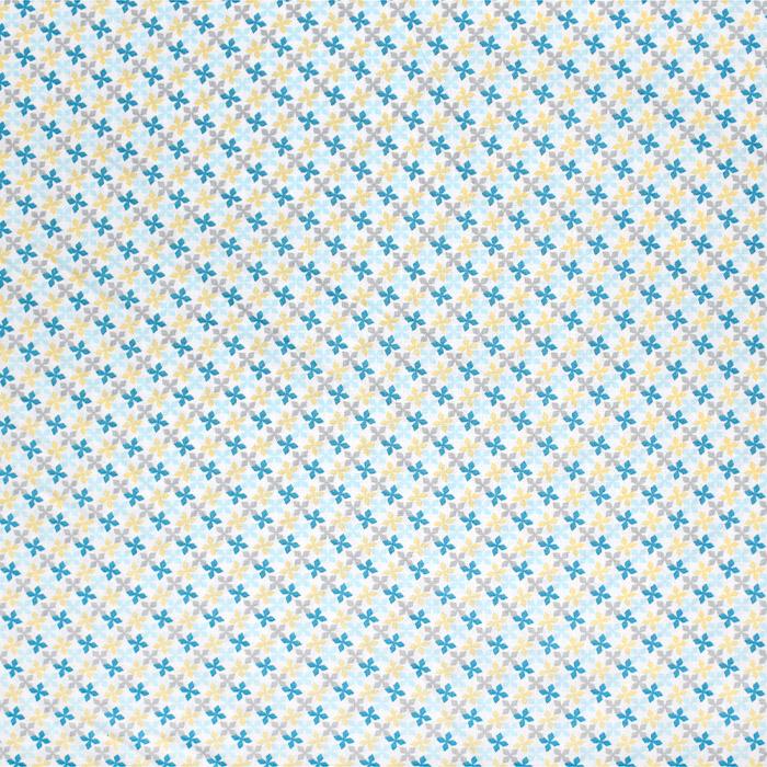Bombaž, poplin, geometrijski, 20818-1, modra