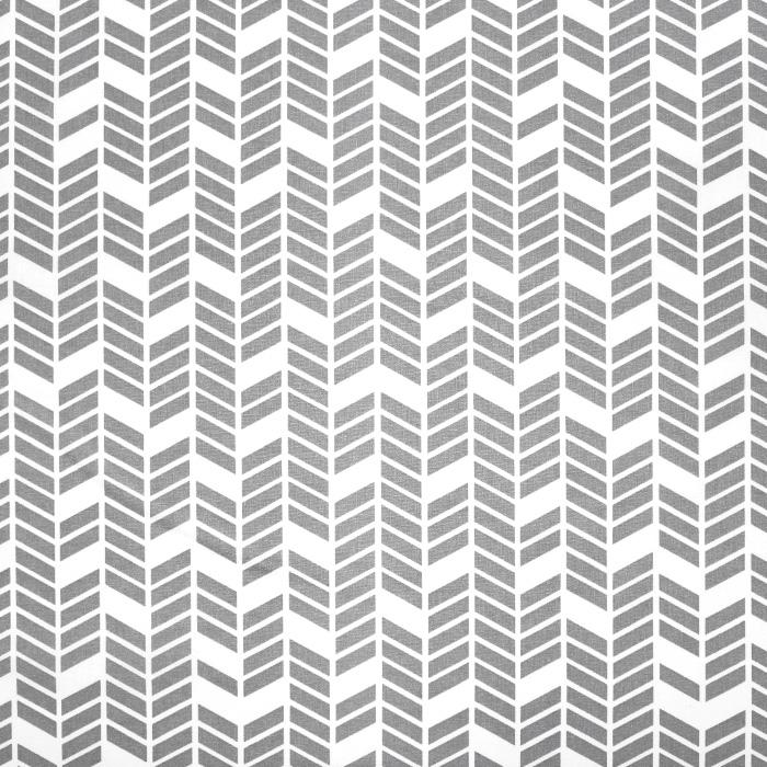 Bombaž, poplin, geometrijski, 20819-1, siva