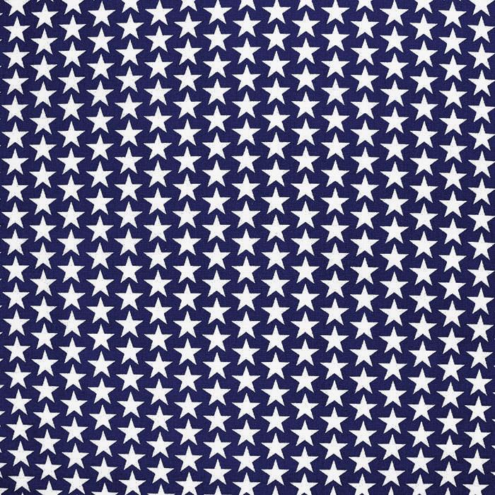 Pamuk, popelin, zvijezde, 20825-6, tamnoplava