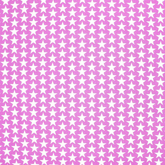 Pamuk, popelin, zvijezde, 20825-10, ružičasta