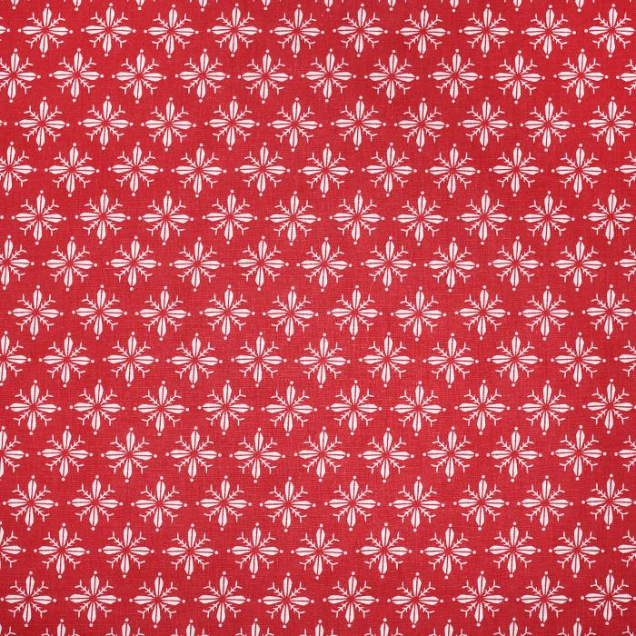Bombaž, poplin, cvetlični, 20830-1, rdeča