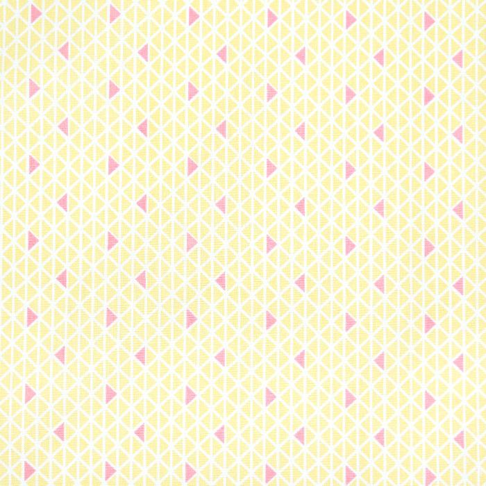 Bombaž, poplin, geometrijski, 20831-1, rumena