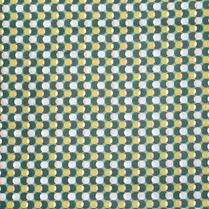 Pamuk, popelin, točke, 20844-1, zelena