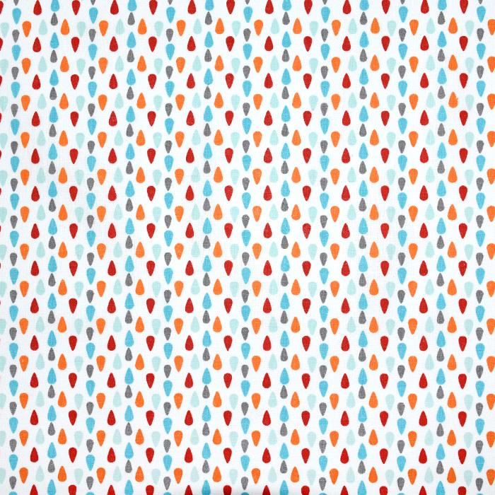 Pamuk, popelin, suze, 20842-4, plavo-narančasta