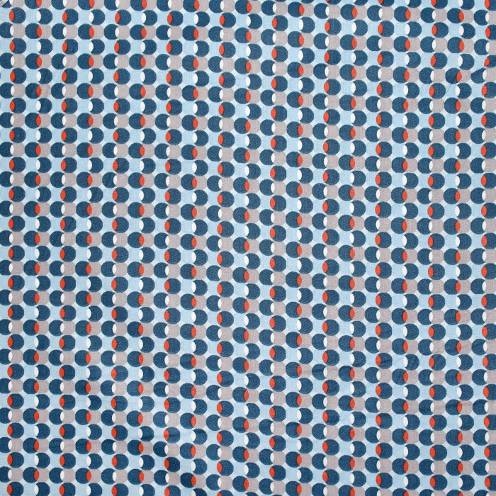 Baumwolle, Popeline, Punkte, 20844-4, blau