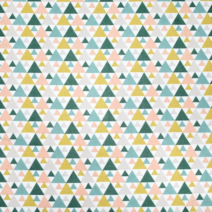 Baumwolle, Popeline, geometrisch, 20855-1, grün-gelb