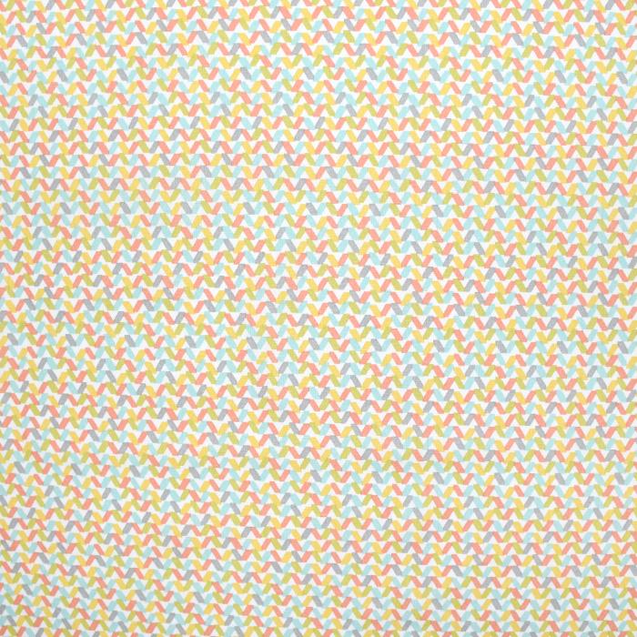Bombaž, poplin, geometrijski, 20857-2, rumena