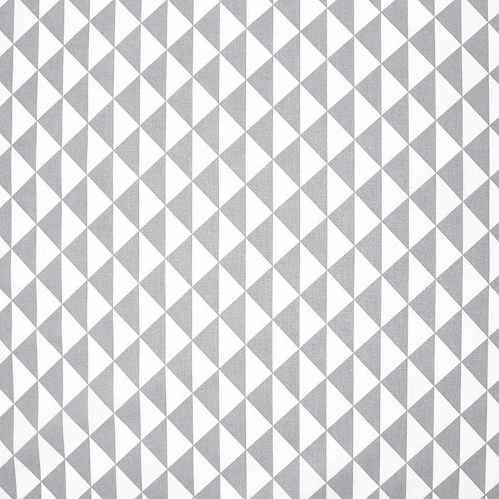 Bombaž, poplin, geometrijski, 20863-4, svetlo siva