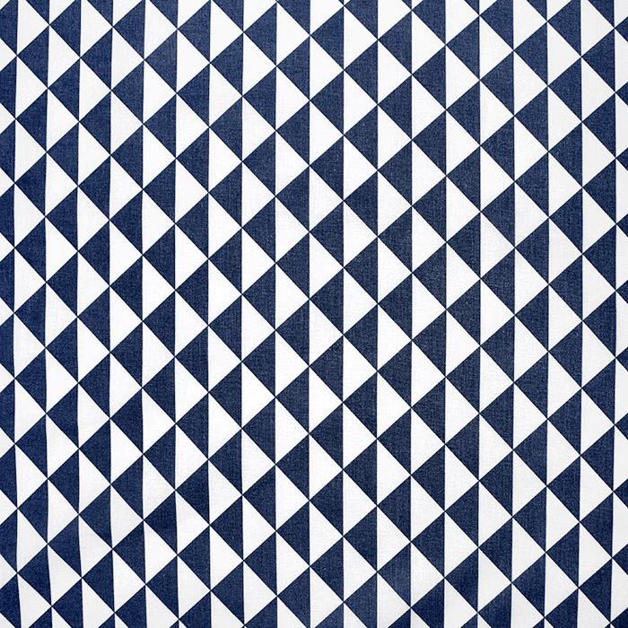Baumwolle, Popeline, geometrisch, 20863-6, dunkelblau