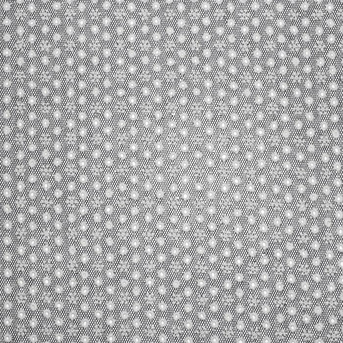 Čipka na mrežici, vezenina, 20872-5002, siva