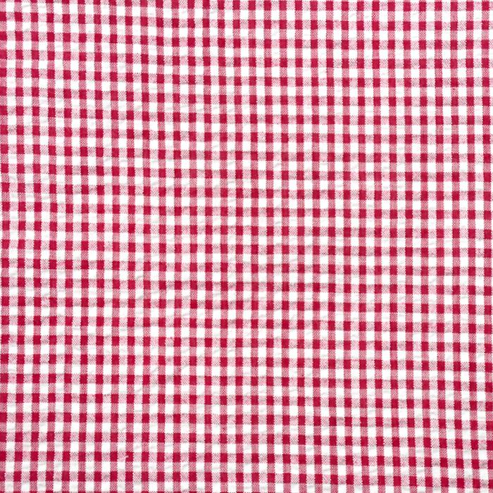 Tkanina, mečkanka, karo, 20881-5020, rdeča