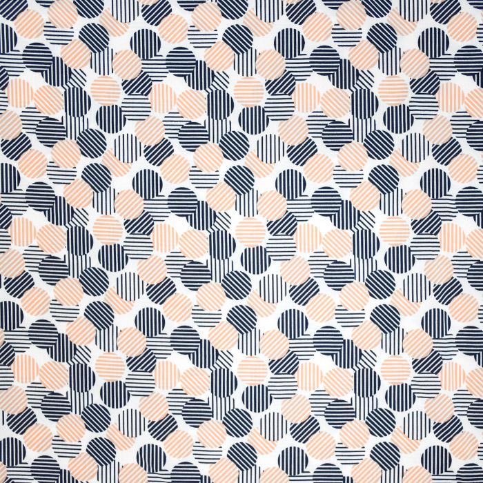 Tkanina, tanjša, krogci, 20970-011, oranžna