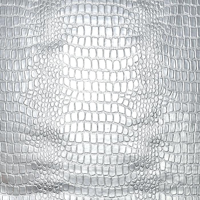 Umetno usnje Krokodil, 20989-0281, srebrna