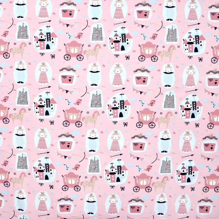Jersey, bombaž, otroški, 21086-12, roza
