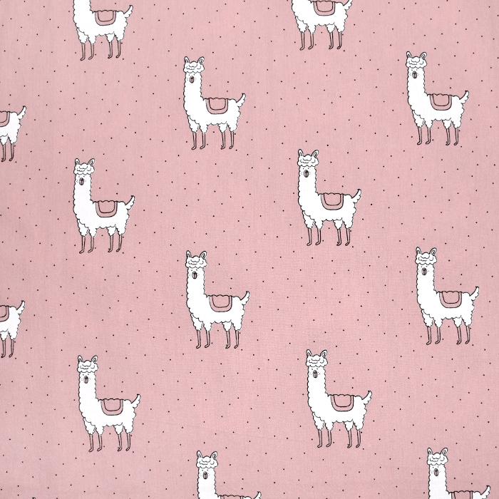 Gewebe, Baumwolle, Tiere, 21118-820, rosa