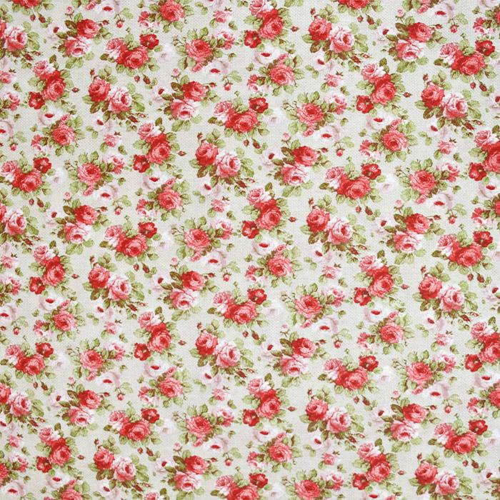 Dekostoff, Druck, floral, 21151, rot