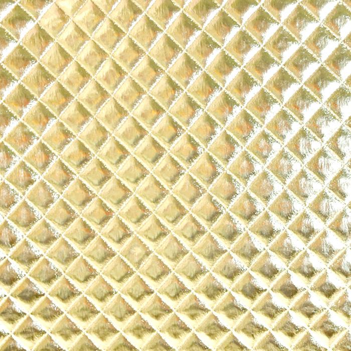Umetno usnje Kapitone, 21187-07, zlata