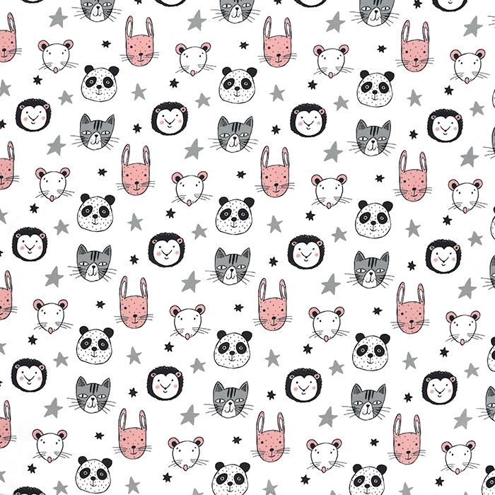 Jersey, Baumwolle, für Kinder, 21197-02, weiß