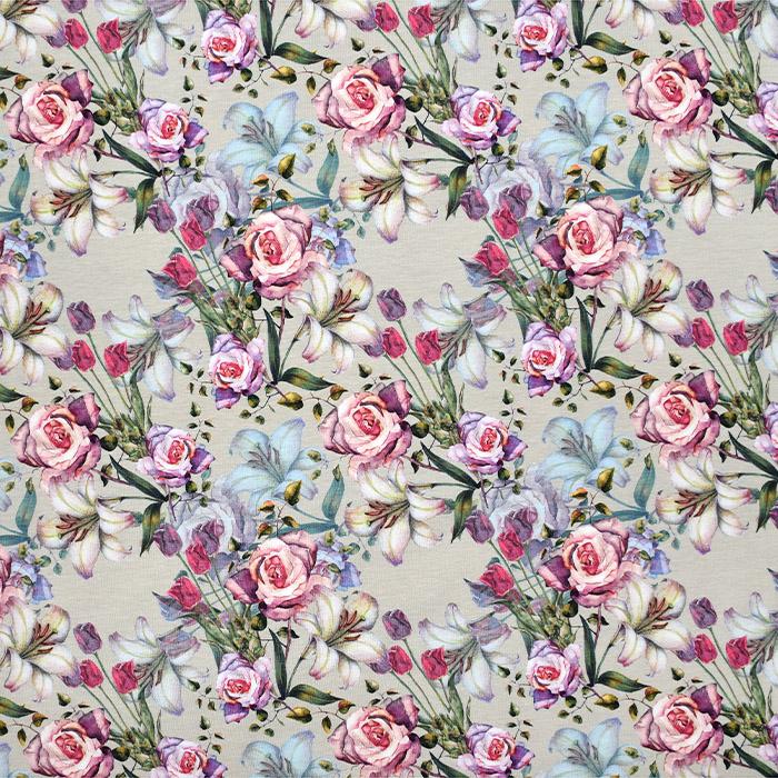 Jersey, Baumwolle, floral, 21200-62797