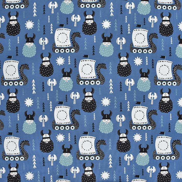Jersey, Baumwolle, für Kinder 21201-80358, blau