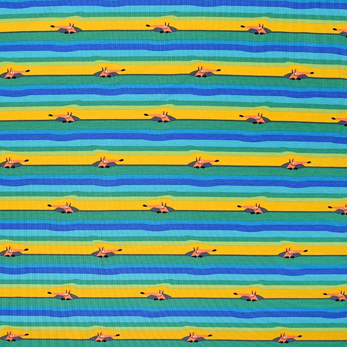 Jersey, Baumwolle, Streifen, 21206-63218, gelb