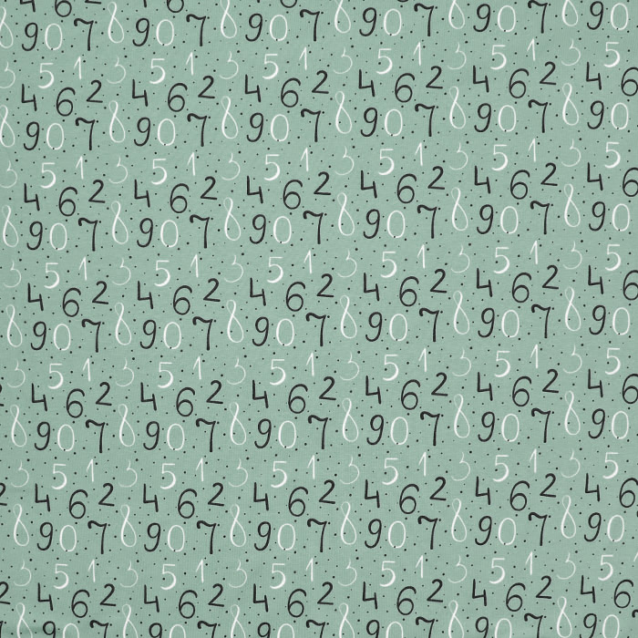 Jersey, bombaž, številke, 21194-10, zelena