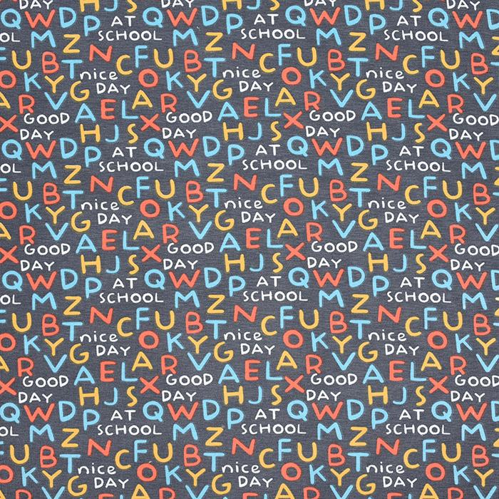 Jersey, Baumwolle, Buchstaben, 21246