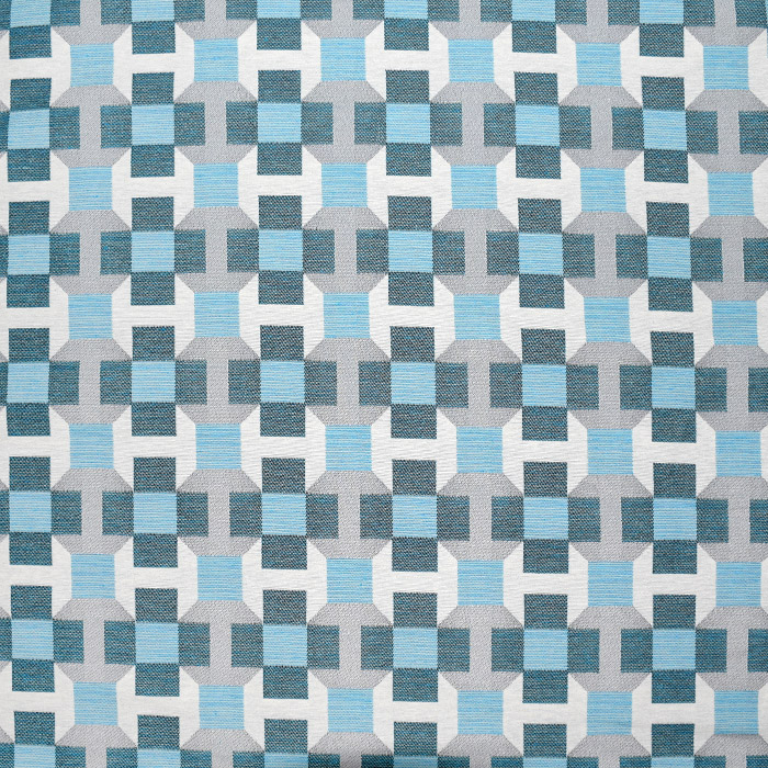 Dekostoff, Jacquard, geometrisch, 21311-42, türkis