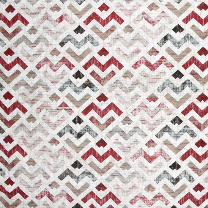 Deko, tisk, geometrijski, 21319-1, rdeča
