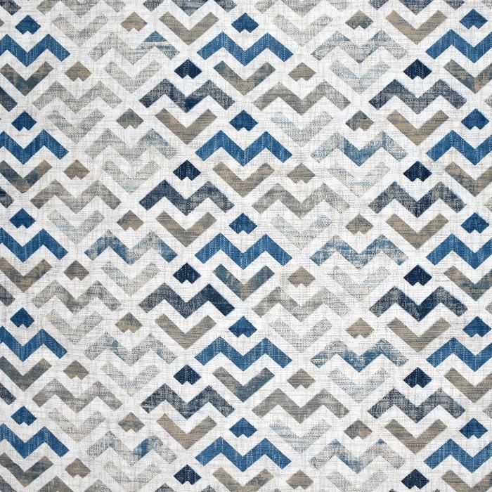 Dekostoff, Druck, geometrisch, 21319-3, blau