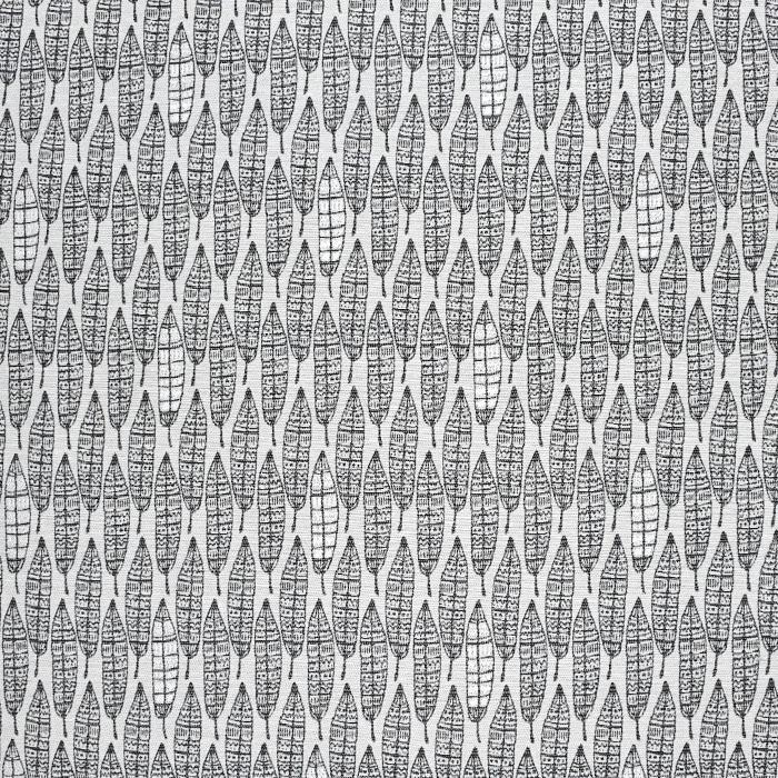 Dekostoff, Jacquard, Federn, 21321-90, grau