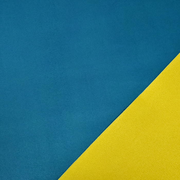 Mikrotkanina, obojestranska, Alaska, 20582-20, turkizno rumena