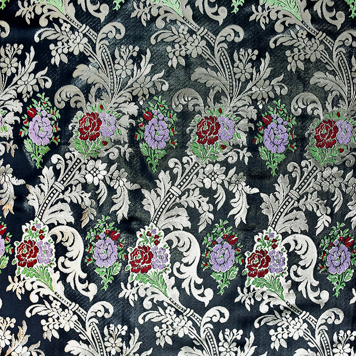 Žakard, stilni, 21355-3, črna