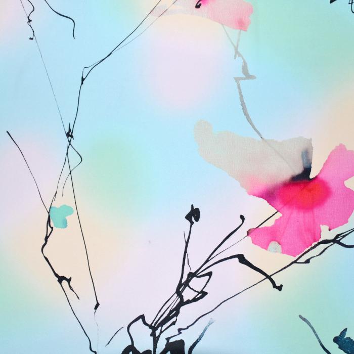 Svila, tisk, abstraktni, 21372-8