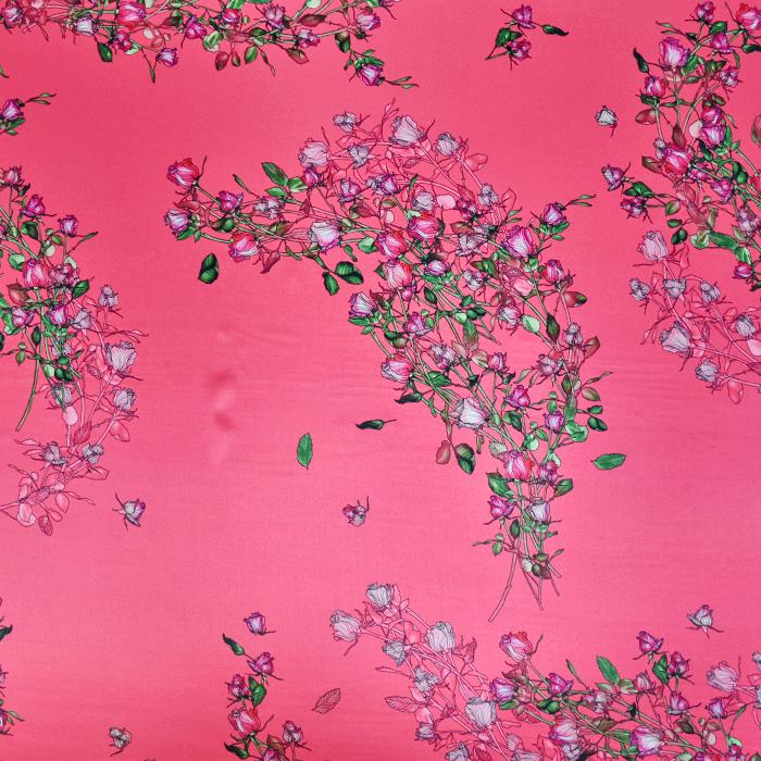 Svila, saten, cvetlični, 21373-2