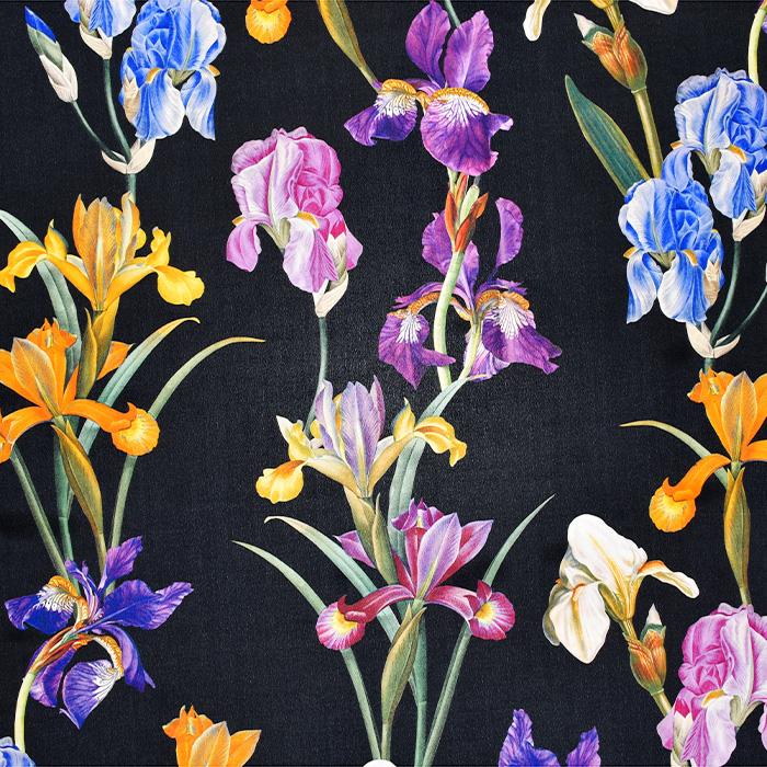 Svila, tisk, cvetlični, 21373-6