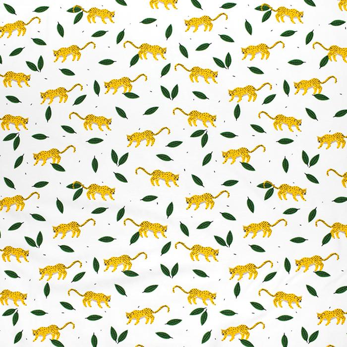 Jersey, Baumwolle, Tiere, 21401-150, weiß