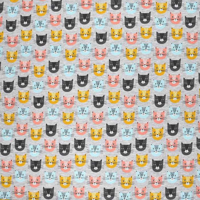 Sweatshirtstoff, Tiere, 21418-001, grau