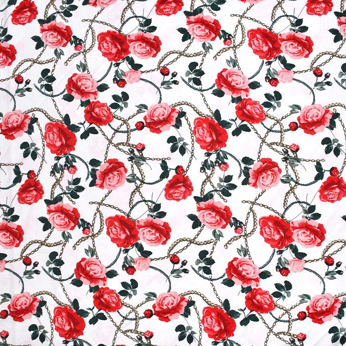 Tkanina, tanjša, cvetlični, 21425-001