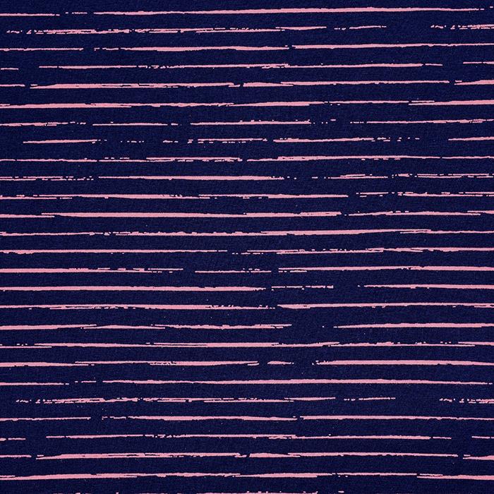 Jersey, bombaž, črte, 21432-36, modra